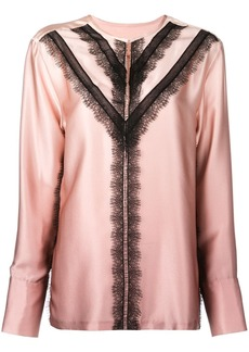 Jason Wu contrast lace-detail blouse