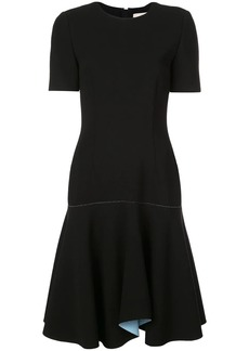 Jason Wu contrast lining flared dress