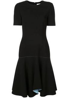 Jason Wu contrast lining flared dress