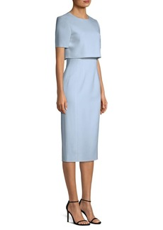 Jason Wu Crepe Popover Sheath Dress