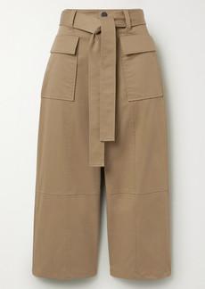 Jason Wu Cropped Cotton-twill Wide-leg Pants