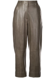Jason Wu cropped leather trousers