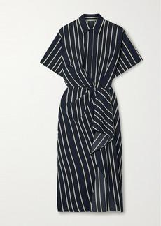 Jason Wu Draped Striped Twill Dress