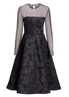 Jason Wu Embossed Tulle Cocktail Dress