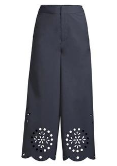Jason Wu Eyelet Wide-Leg Culottes