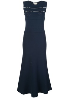 Jason Wu fine-knit scalloped trim dress