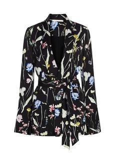 Jason Wu Floral Belted Pajama Jacket