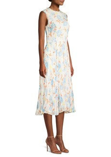 Jason Wu Floral Chiffon Midi Dress