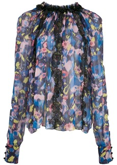 Jason Wu floral print sheer blouse