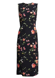 Jason Wu Floral-Printed Crepe Sheath Dress