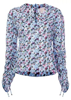Jason Wu floral ruched blouse