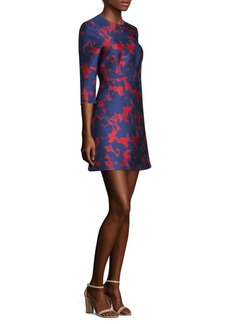 Jason Wu Floral Satin Jacquard Dress