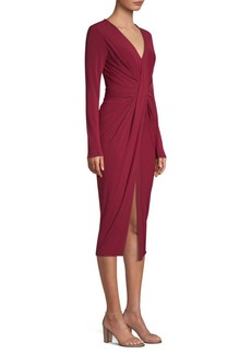 Jason Wu Fluid Jersey Ruched Twist Dress