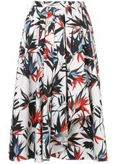 Jason Wu foliage print A-line skirt
