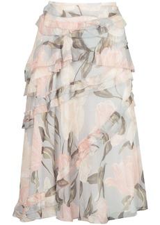 Jason Wu frill floral skirt