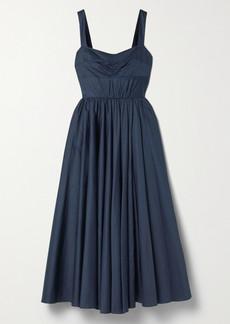 Jason Wu Gathered Cotton-sateen Midi Dress