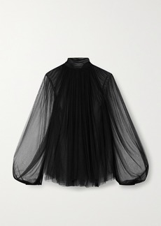 Jason Wu Gathered Silk-blend Tulle Top