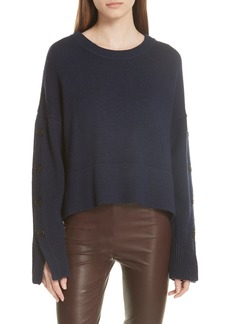 GREY Jason Wu Aquila Button Sleeve Merino Wool Sweater
