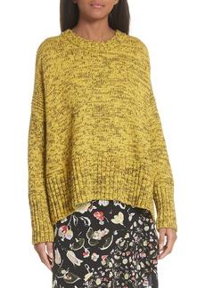 GREY Jason Wu Back Tie Cotton Blend Sweater