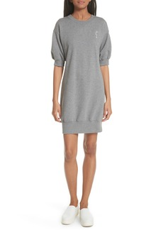 GREY Jason Wu Embroidered Face French Terry Dress