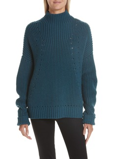 GREY Jason Wu Merino Wool Mock Neck Sweater