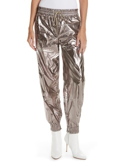 GREY Jason Wu Metallic Foil Drawstring Pants