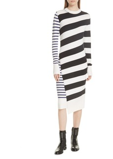 GREY Jason Wu Mixed Stripe Merino Wool Sweater Dress