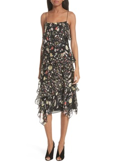 GREY Jason Wu Painterly Floral Print Silk Blend Dress