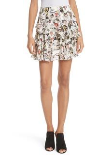 GREY Jason Wu Painterly Floral Print Skirt