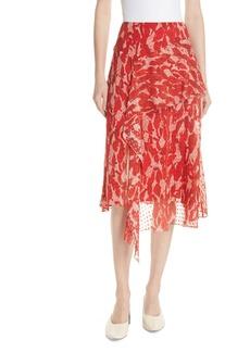 GREY Jason Wu Print Clip Dot Asymmetrical Skirt