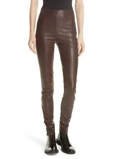 GREY Jason Wu Stretch Leather Skinny Pants