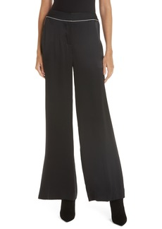 GREY Jason Wu Wide Leg Silk Charmeuse Pants