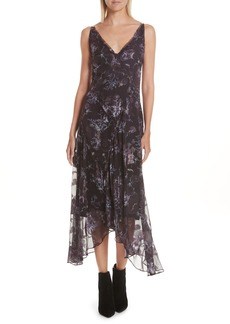 GREY Jason Wu Winter Floral Fil Coupé Midi Dress
