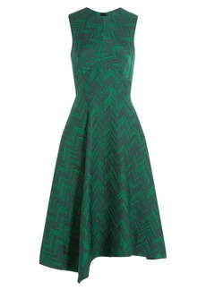 Jason Wu Herringbone Cloque Sleeveless Cocktail Dress