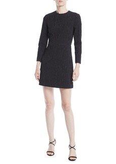 Jason Wu 3/4-Sleeve Cloque Jacquard Daytime Mini Dress