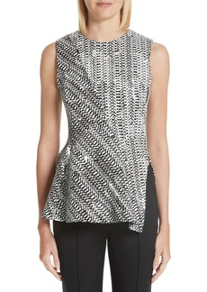 Jason Wu Asymmetrical Peplum Top