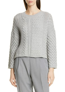 Jason Wu Cable Knit Cotton Blend Sweater