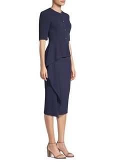 Jason Wu Cascading Peplum Midi Dress