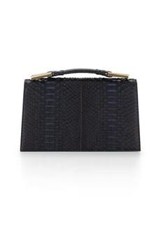 Jason Wu Charlotte Origami Python & Leather Evening Clutch Bag
