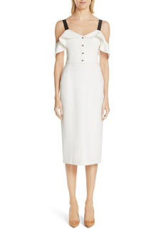 Jason Wu Cold Shoulder Crepe Sheath Dress