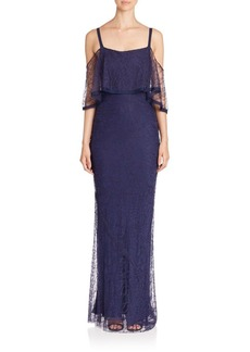 Jason Wu Cold-Shoulder Lace Gown