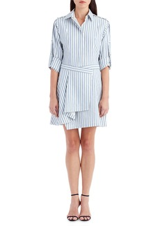 Jason Wu Collared Striped Cotton Shirting Dress