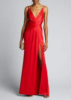 Jason Wu Collection Crepe Back Satin Slip Gown