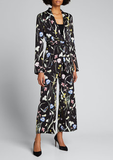 Jason Wu Collection Floral-Print Belted Pajama Jacket