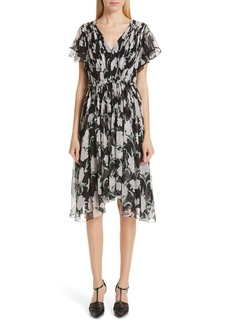Jason Wu Collection Floral Print Chiffon Dress