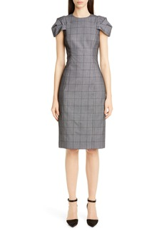 Jason Wu Collection Lace Overlay Glen Plaid Sheath Dress