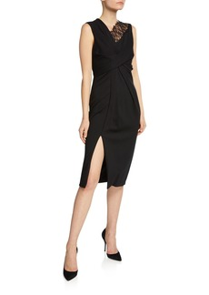 Jason Wu Collection Lace-Trim Jersey Sheath Dress