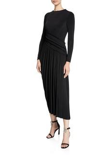 Jason Wu Collection Long-Sleeve Fluid Jersey Evening Gown