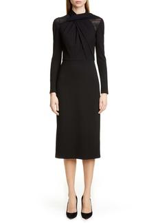 Jason Wu Collection Long Sleeve Twist Ponte Day Dress