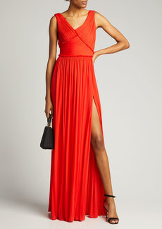 Jason Wu Collection Plisse Jersey Sleeveless Gown